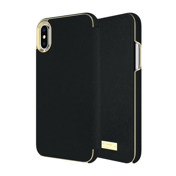 Shop Australia stock KATE SPADE NEW YORK CARD FOLIO CASE FOR iPHONE XS/X - SAFFIANO BLACK with free shipping online. Shop Kate Spade New York collections with afterpay