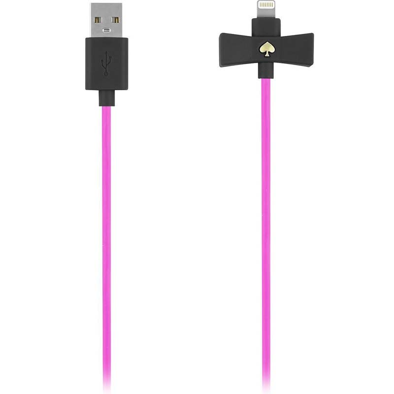 BUY Kate Spade New York Bow Charge / Sync Lightning Cable 1 meter - Black Snapdragon Bow/Vivid Cable AUSTRALIA Australia Stock