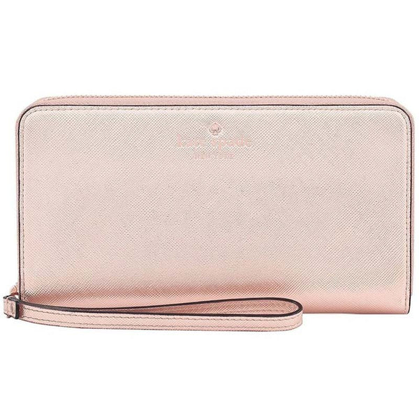 BUY from authorized distributor Kate Spade Wristlet Zip Wallet Case for Most Smartphones - Saffiano Rose Gold AUSTRALIA free shipping