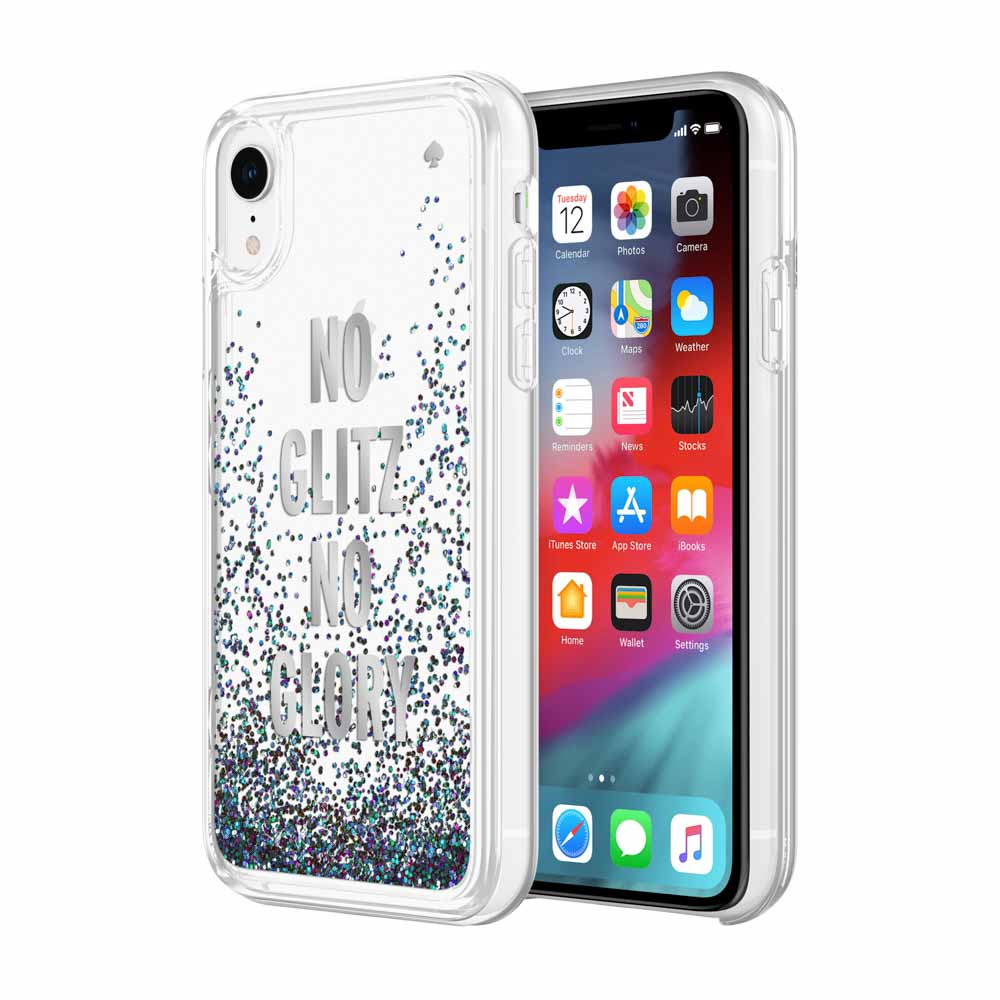 Shop Australia stock KATE SPADE NEW YORK LIQUID GLITTER CASE FOR IPHONE XR- NO GLITZ NO GLORY SILVER FOIL/MERMAID GLITTER with free shipping online. Shop Kate Spade New York collections with afterpay Australia Stock