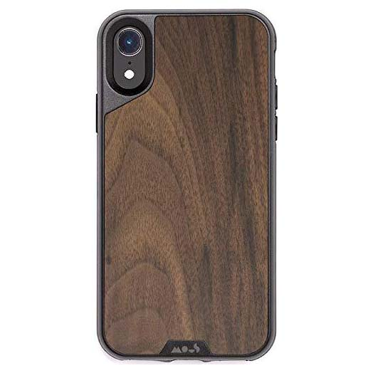 pattern case for iphone xr with walnut airoshock protective from mous australia