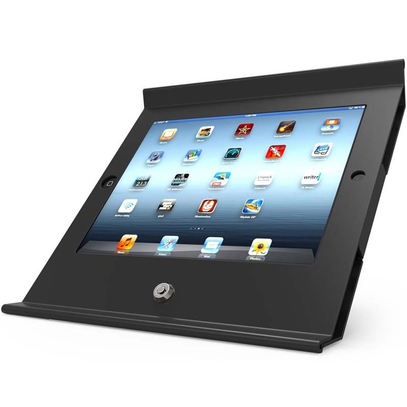 MacLocks Slide Basic POS Enclosed Stand for iPad 9 7/Air 2/Pro 9 7- Black