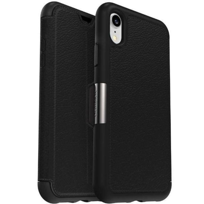 buy leather case black colour with card slot for iphone xr Australia Stock