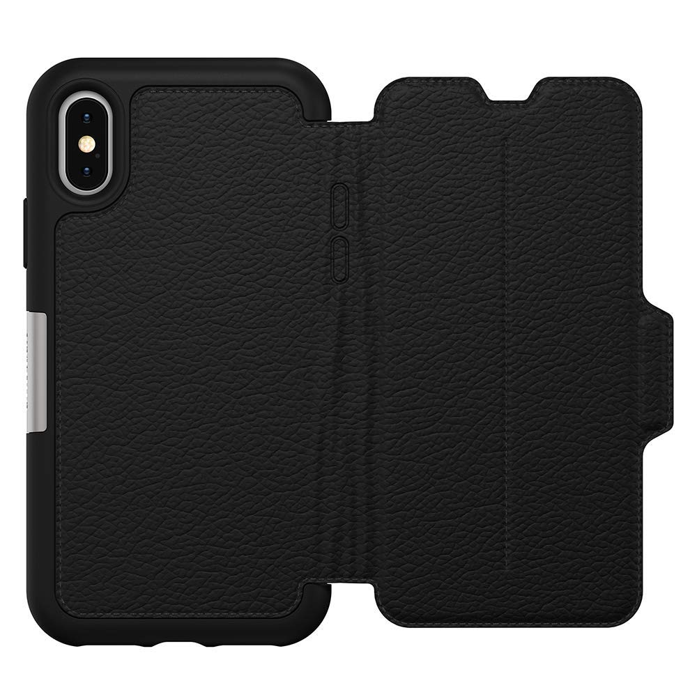 folio case with card slots black colour from otterbox. shop online with afterpay payment Australia Stock
