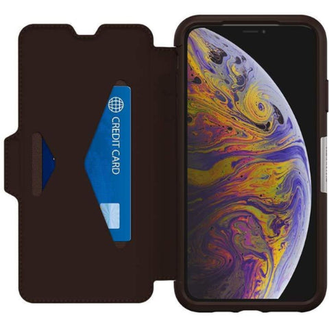 brown folio case for iphone xs iphone x from otterbox australia