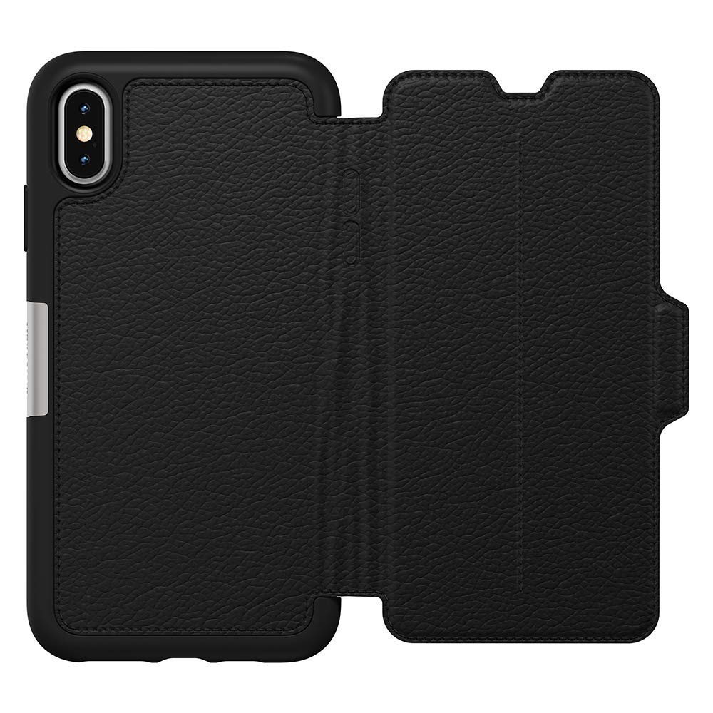 promo code a4239 22d17 OTTERBOX STRADA LEATHER CARD FOLIO CASE FOR IPHONE XS MAX - BLACK (SHADOW)