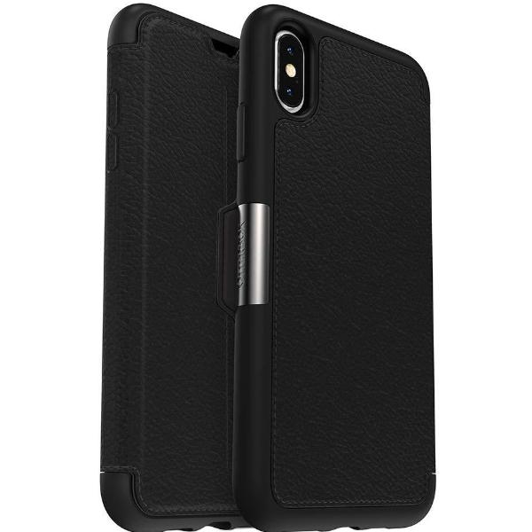 promo code c8f01 584a4 OTTERBOX STRADA LEATHER CARD FOLIO CASE FOR IPHONE XS MAX - BLACK (SHADOW)