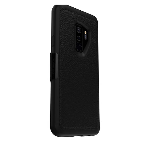 leather case black colour for samsung galaxy s9 plus from otterbox