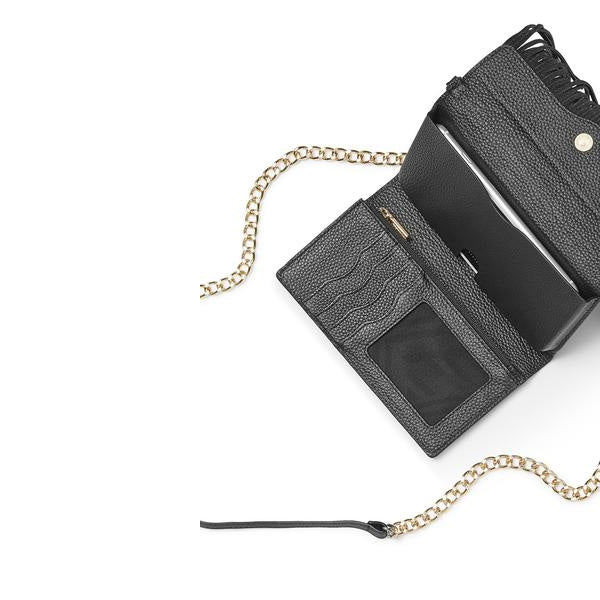 Shop Australia stock Rebecca Minkoff Universal Fringe Tech Leather Crossbody - Black Pebble with free shipping online. Shop Rebecca Minkoff collections with afterpay Australia Stock