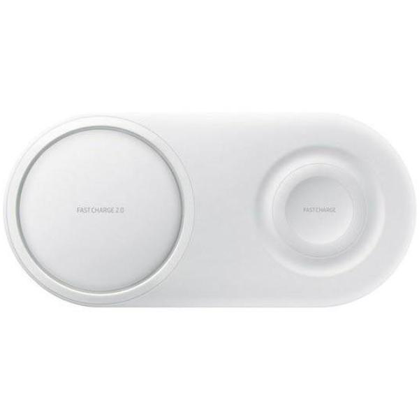 SAMSUNG WIRELESS CHARGING DUO PAD WITH FAST CHARGE 2.0 - WHITE