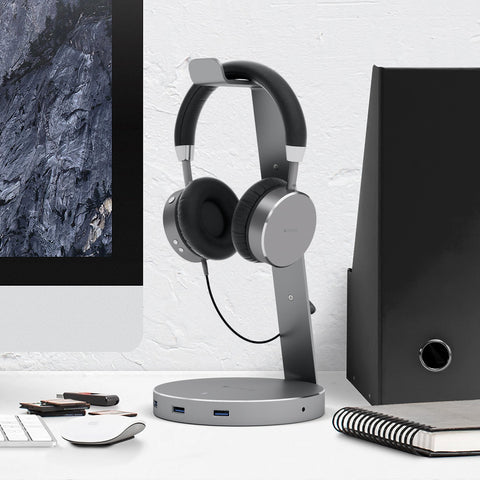 Shop Australia stock SATECHI ALUMINIUM USB HEADPHONE STAND HOLDER USB 3.0 PORTS HUB - SPACE GREY with free shipping online. Shop SATECHI collections with afterpay