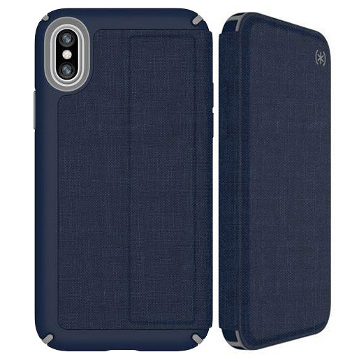 blue folio business style case from Speck for iPhone Xs & iPhone X