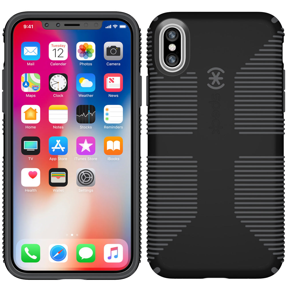 online store d57a5 5d9c7 SPECK CANDYSHELL GRIP CASE FOR IPHONE X - BLACK/GREY