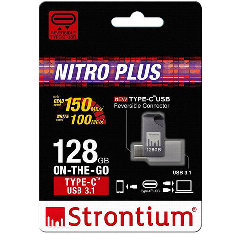 strontium nitro plus otg 128gb type-c usb 3.1 flash drive for devices