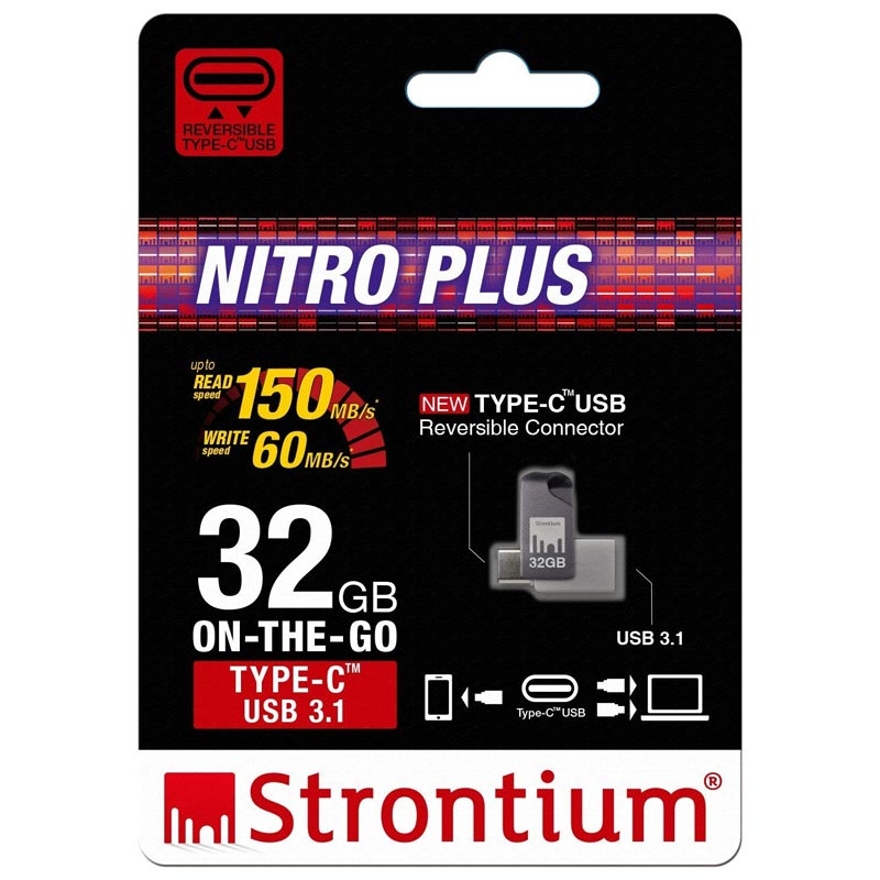 strontium nitro plus otg 32gb type-c usb 3.1 flash drive for your smartphone devices Australia Stock