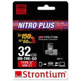 strontium nitro plus otg 32gb type-c usb 3.1 flash drive for your smartphone devices