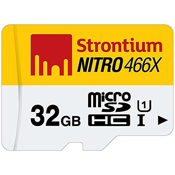 Strontium 32gb Micro Sd Nitro Uhs-1 With Sd Adapter & Usb Reader