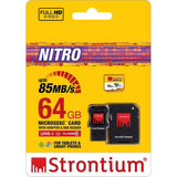 Shop Australia stock STRONTIUM NITRO 64GB MicroSDXC UHS-I MEMORY CARD WITH ADAPTER AND CARD READER UP TO 85MB/s with free shipping online. Shop Strontium collections with afterpay