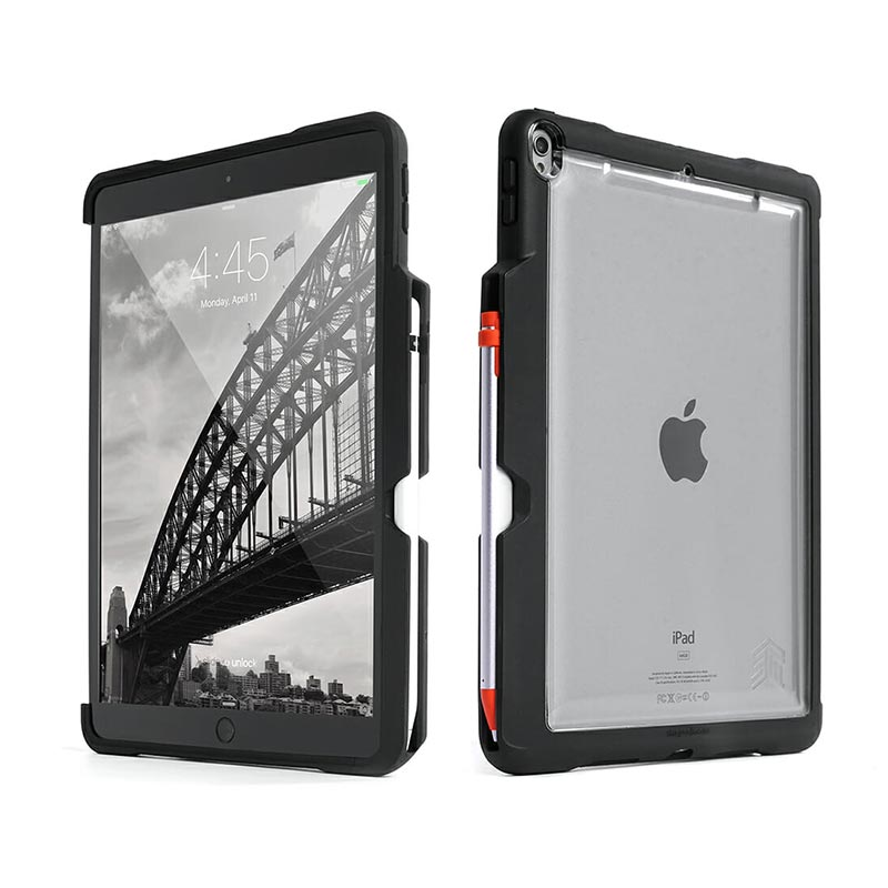 new arrivals e19d8 b3182 STM DUX SHELL DUO CLEAR CASE FOR iPAD AIR 10.5/iPAD PRO 10.5 - BLACK