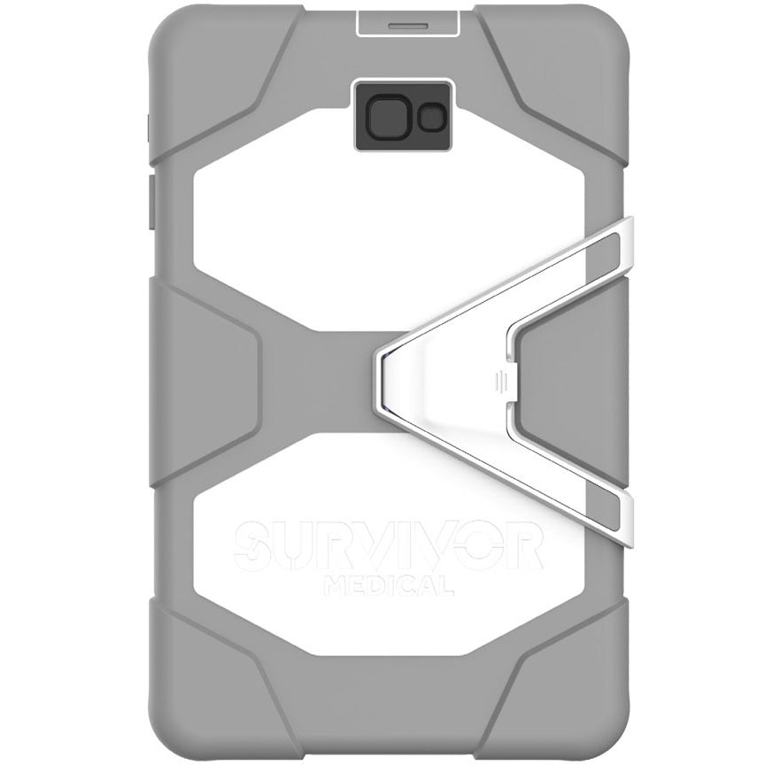 GRIFFIN SURVIVOR MEDICAL SANITIZABLE PROTECTION CASE FOR GALAXY TAB A 10.1 - WHITE/GREY Australia Stock