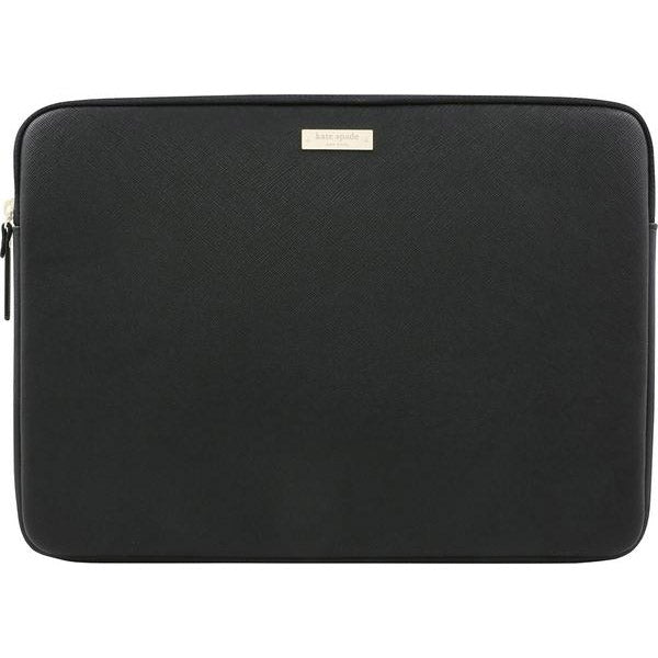 KATE SPADE NEW YORK SAFFIANO LAPTOP SLEEVE FOR MACBOOK 13 INCH - BLACK