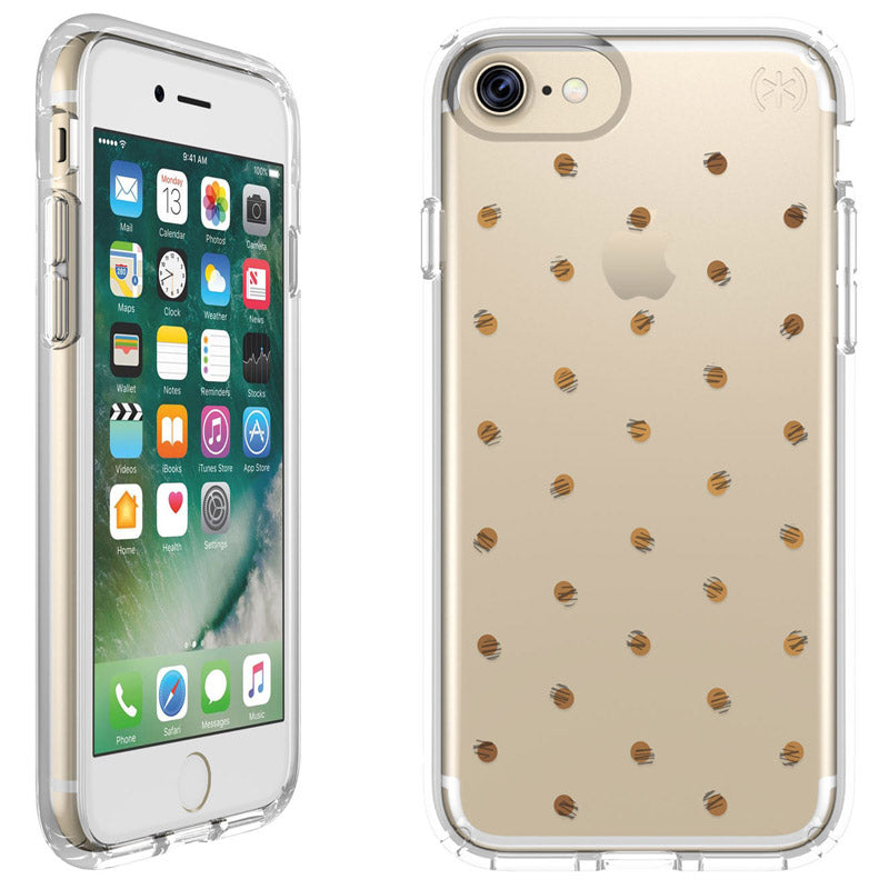 Best Price to Buy Speck Presidio Clear Print IMPACTIUM Case for iPhone 8/7 - Etched Dot Silver from authorized distributor offer free shipping Australia Express wide from Official Store Syntricate. Australia Stock