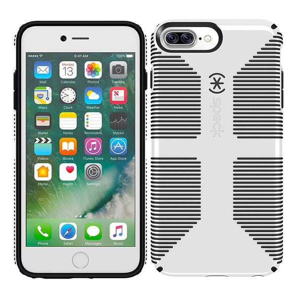 Shop Australia stock SPECK CANDYSHELL GRIP CASE FOR IPHONE 8 PLUS/7 PLUS - WHITE/GREY with free shipping online. Shop Speck collections with afterpay