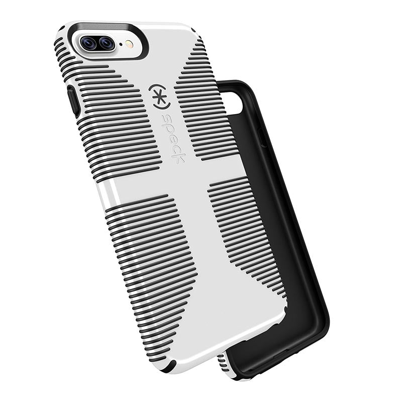 sale retailer 74efd 662df SPECK CANDYSHELL GRIP CASE FOR IPHONE 8 PLUS/7 PLUS - WHITE/BLACK
