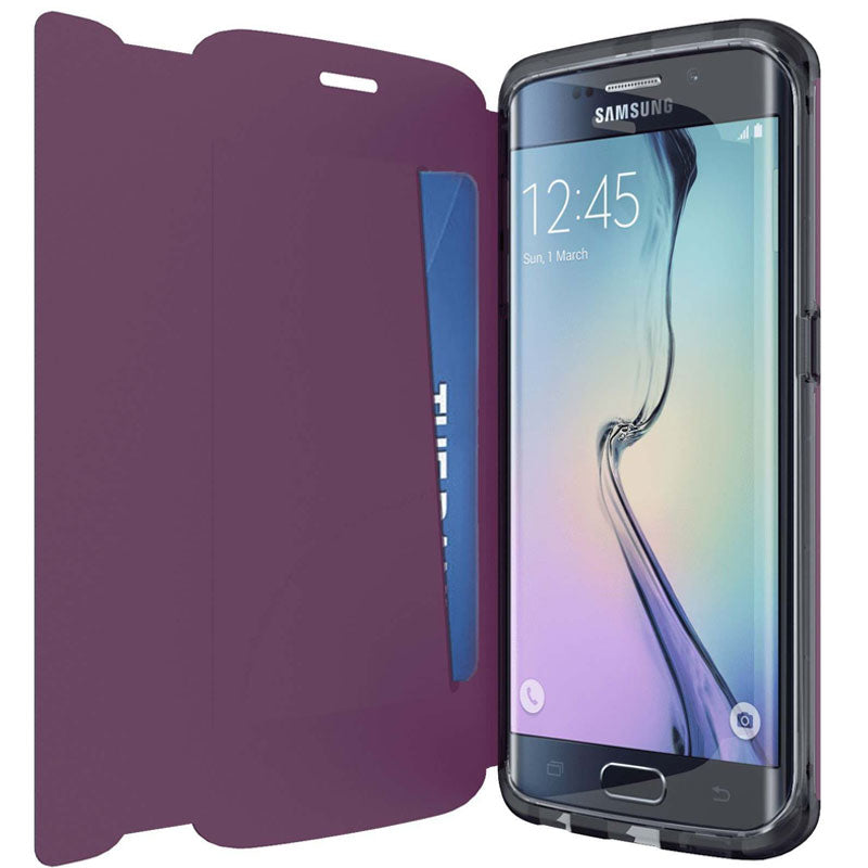 online retailer 8bf07 5acc8 Tech21 Evo Frame Wallet Folio Case for Galaxy S6 Edge - Purple