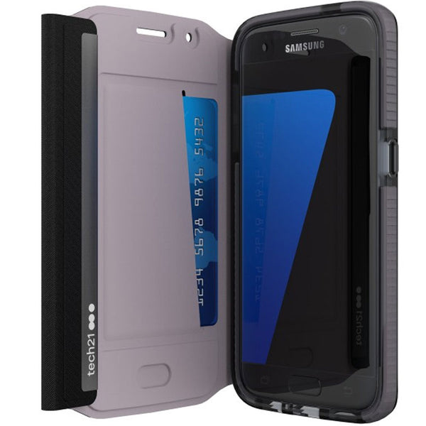 T21-5240 Tech21 Evo Wallet Folio Case for Galaxy S7 Edge - Black