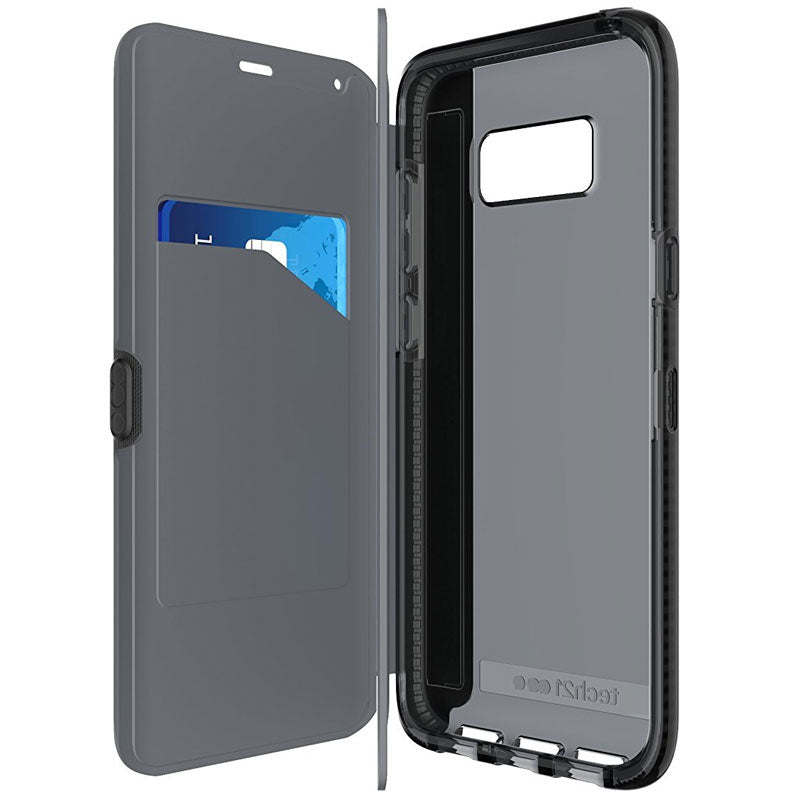 Tech21 Evo Wallet Flexshock Folio Case For Galaxy S8+ (6.2 Inch) - Black Australia Stock