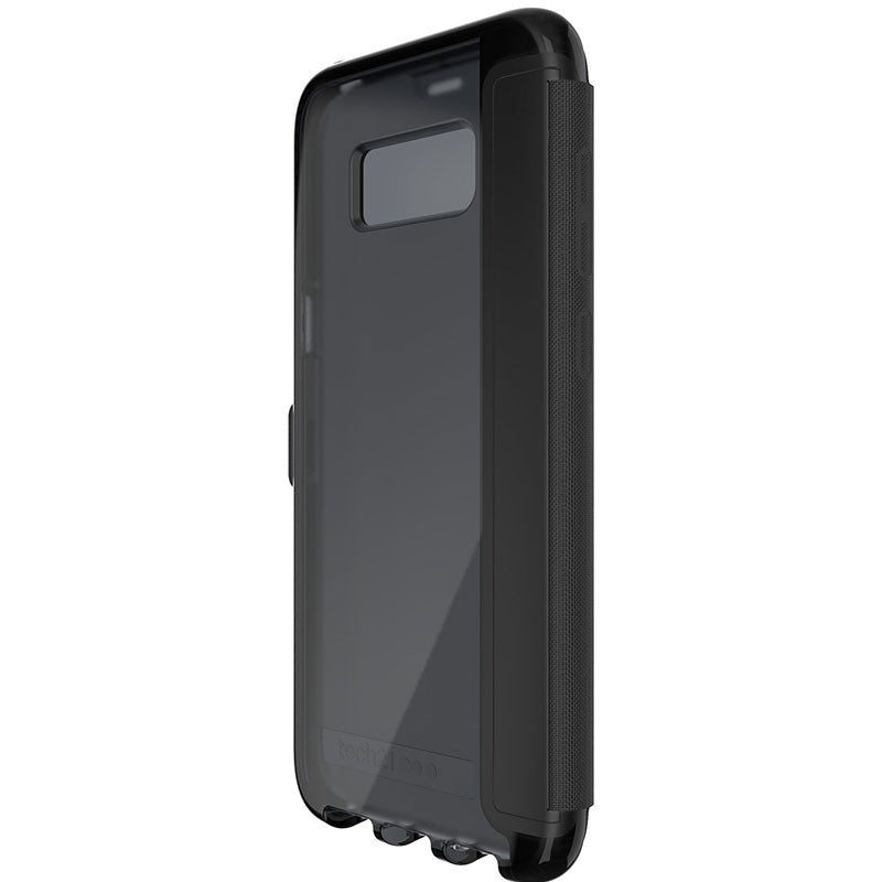 Genuine Tech21 Evo Wallet Flexshock Folio Case For Galaxy S8+ (6.2 Inch) - Black Australia Stock