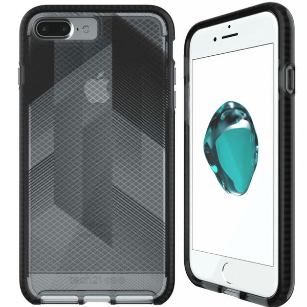 TECH21 EVO CHECK URBAN EDITION CASE FOR IPHONE 8 PLUS/7 PLUS - BLACK/SMOKEY