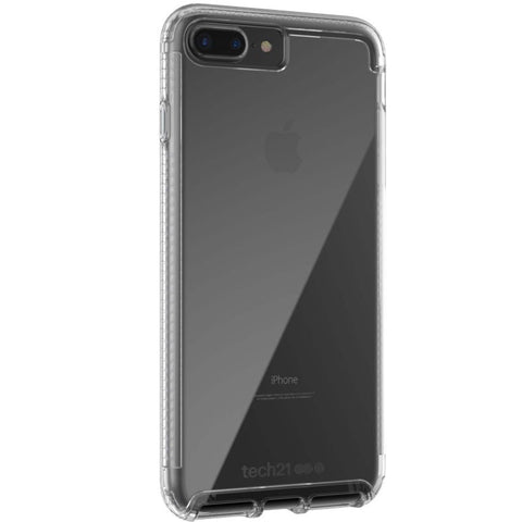 TECH21 PURE CLEAR BULLETSHIELD CASE FOR iPHONE 8 PLUS/7 PLUS - CLEAR black colour