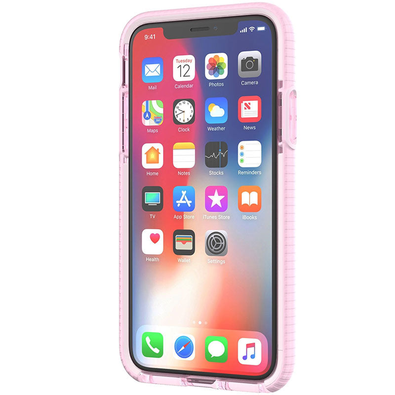 low priced 0eff0 a5a56 TECH21 EVO CHECK EVOKE EDITION CASE FOR IPHONE XS/X - PINK/RED