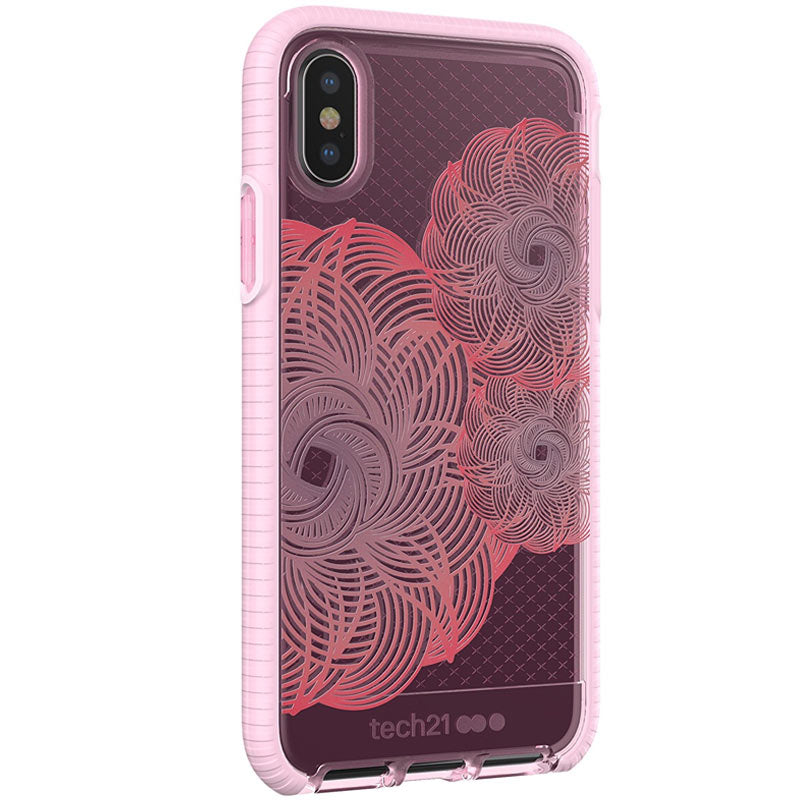 TECH21 EVO CHECK EVOKE EDITION CASE FOR IPHONE X - PINK/RED SYNTRICATE AUSTRALIA Australia Stock