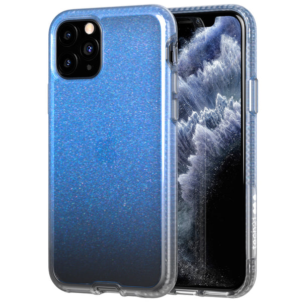 iphone 11 pro max glitter case blue colour. buy online with afterpay payment australia
