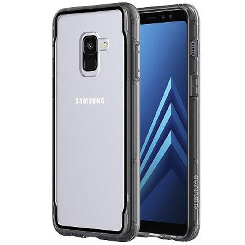 more photos c5e70 ffb38 GRIFFIN SURVIVOR CLEAR CASE FOR GALAXY A8 PLUS - SMOKE/BLACK
