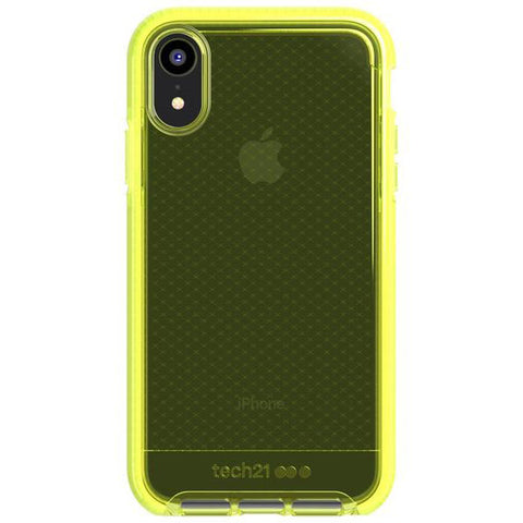 Place to buy EVO CHECK FLEXSHOCK CASE FOR IPHONE XR - NEON YELLOW FROM TECH21 online in Australia free shipping & afterpay.