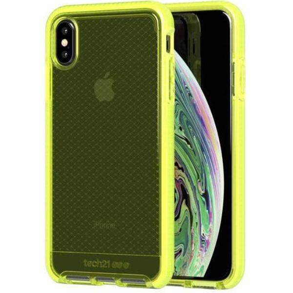 the best attitude 1324c 24a35 TECH21 EVO CHECK FLEXSHOCK CASE FOR IPHONE XS MAX -NEON YELLOW