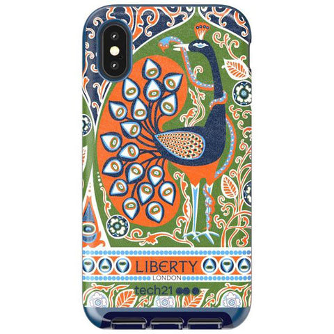 TECH21 EVO LUX PRINT LIBERTY FRANCIS DESIGN CASE FOR IPHONE XS/X - BLUE