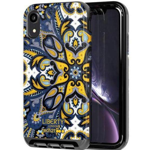 get the design case for iphone xr from tech21 liberty marham pattern blue colour. buy with afterpay with 100 days return policy