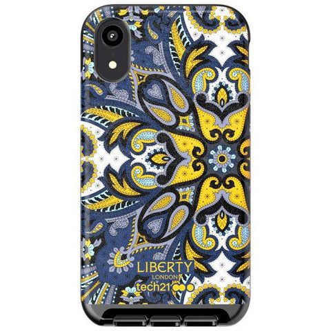 Place to buy EVO LUX PRINT LIBERTY MARHAM DESIGN CASE FOR IPHONE XR - BLUE FROM TECH21 online in Australia free shipping & afterpay.