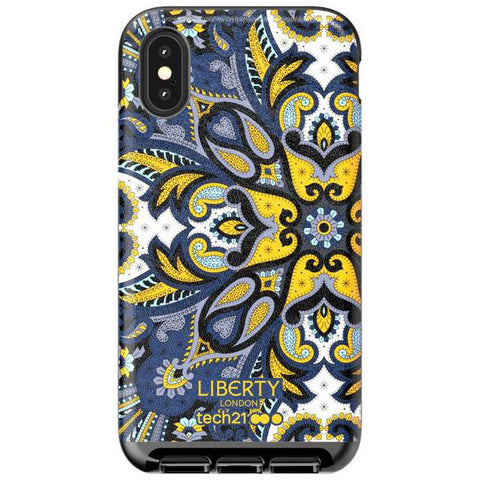 Place to buy EVO LUX PRINT LIBERTY MARHAM DESIGN CASE FOR IPHONE XS/X - BLUE From TECH21 collections with afterpay.