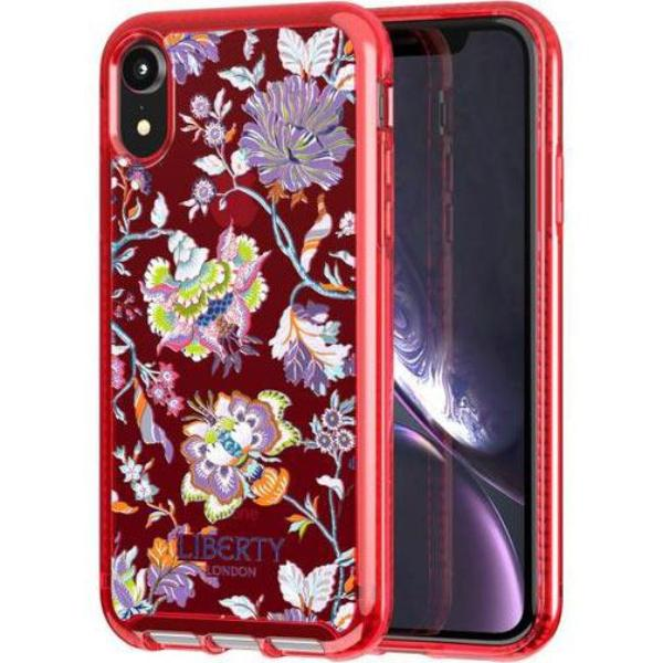design case for iphone xr red colour liberty christelle flower design from tech21 australia. shop at syntricate from australia biggest online store of tech21 cases.