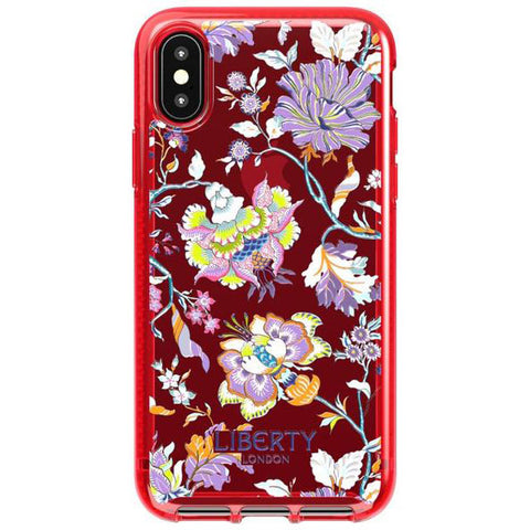 Place to buy PURE PRINT LIBERTY CHRISTELLE DESIGN CASE FOR IPHONE XS/X - RED FROM TECH21 online in Australia free shipping & afterpay.