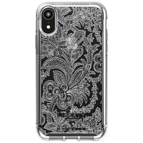 iphone xr design clear case liberty grosvenor pattern from tech21 australia free shipping & afterpay.21.