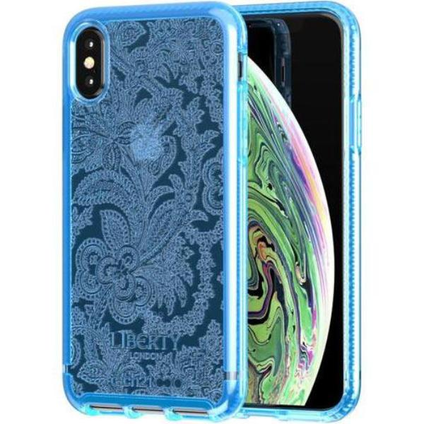 Place to buy PURE PRINT LIBERTY GROSVENOR DESIGN CASE FOR IPHONE XS/X - BLUE FROM TECH21 online in Australia free shipping & afterpay.