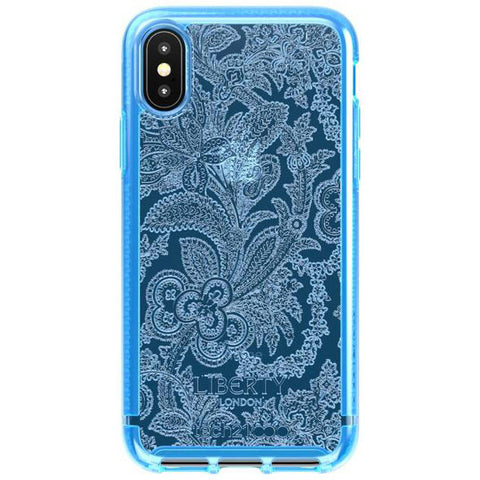 Place to buy PURE PRINT LIBERTY GROSVENOR DESIGN CASE FOR IPHONE XS MAX - BLUE From TECH21 collections with afterpay.