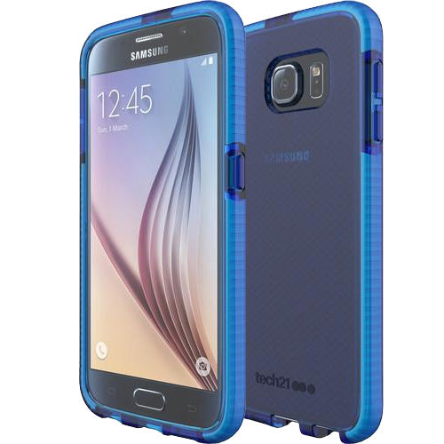 best sneakers d1d56 7df1d Tech21 Evo Check Case for Galaxy S6 - Blue/White